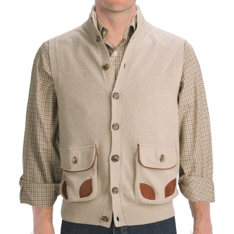 J.L. Powell Sweater Vest - Merino Wool Blend (For Men)