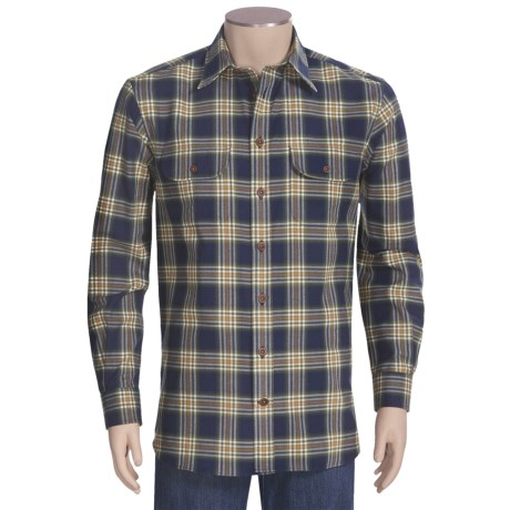 J.L. Powell The Huntsman Shirt - Cotton-Wool, Long Sleeve (For Men)