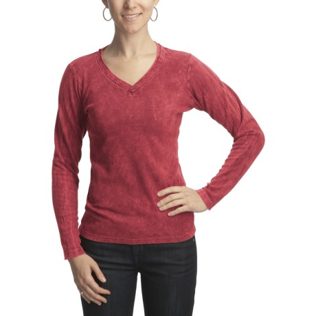 Ojai Thermal V-Neck Shirt - Long Sleeve (For Women)