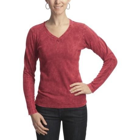 Ojai Thermal V-Neck Shirt - Long Sleeve (For Women)