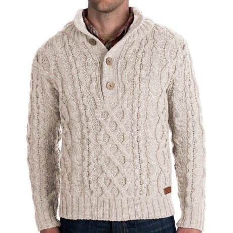 J.G. Glover & CO. Peregrine Chunky Cable Sweater - Merino Wool (For Men)