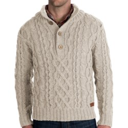Peregrine Chunky Cable Sweater - Merino Wool (For Men)