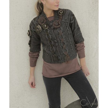 CoVelo Paquita Cropped Cardigan Sweater - Elbow Sleeve (For Women)