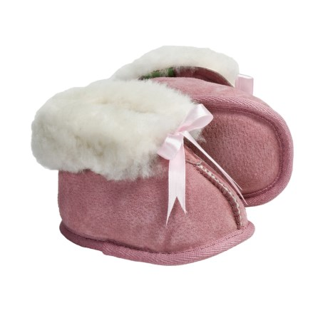 Lamo Baby Bootie Slippers - Sheepskin Lined (For Infant Boys and Girls)