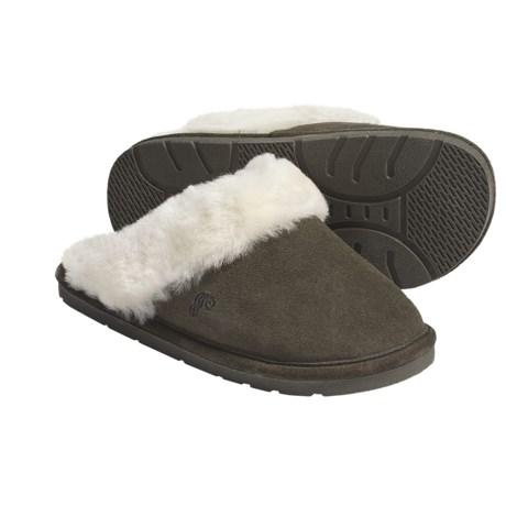 Lamo Scuff Slippers - Suede, Sheepskin-Lined (For Women)