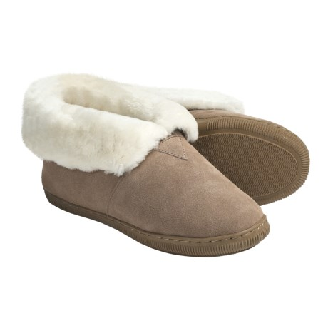 Lamo Bootie Slippers - Suede, Sheepskin-Lined (For Women)