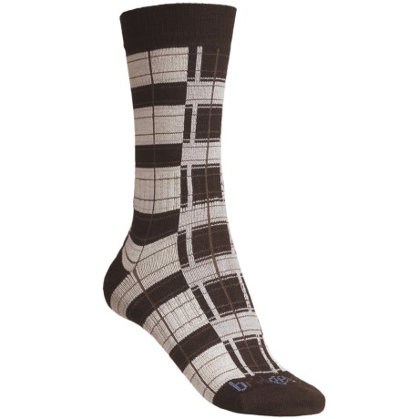 Bridgedale Plaid Socks - Rayon, Crew (For Women)