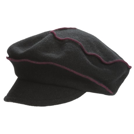 Asian Eye Oliver Cabbie Cap - Pleated Swirl (For Women)