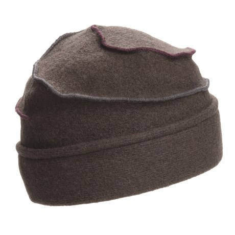 Asian Eye Mia Contrast Swirl Cap - Wool (For Women)