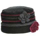 Asian Eye Gemini Pleated Cap - Fleece (For Women)