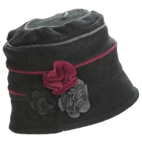 Asian Eye Connie Swirl Cap - Floral Applique (For Women)