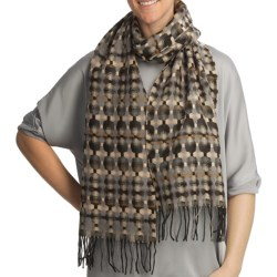 Asian Eye Shadowbox Over-Under Scarf - Woven Wool (For Women)