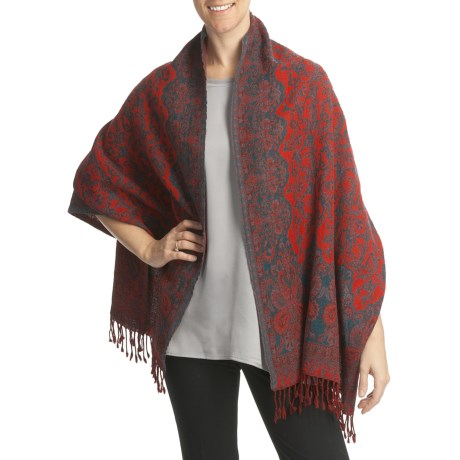 Asian Eye Natasha Wool Wrap (For Women)