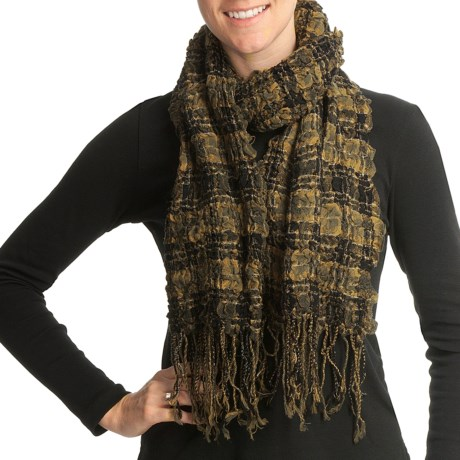 Asian Eye Juicy Fruit Scarf - Textured Wool (For Women)