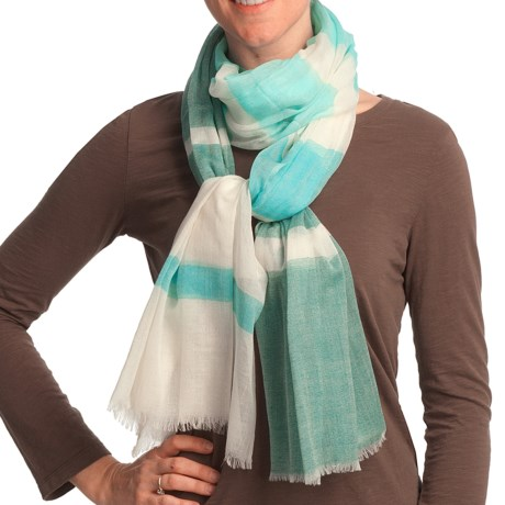 Asian Eye Gossamer Scarf - Lightweight, Wool (For Women)