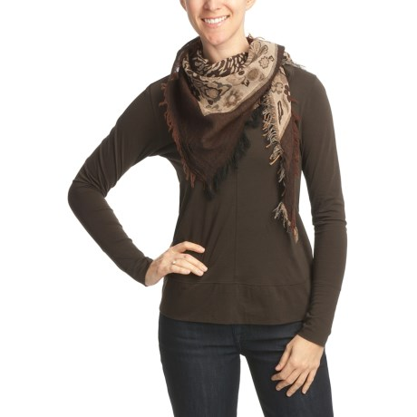 Asian Eye Eazy Triangle Scarf - Wool (For Women)