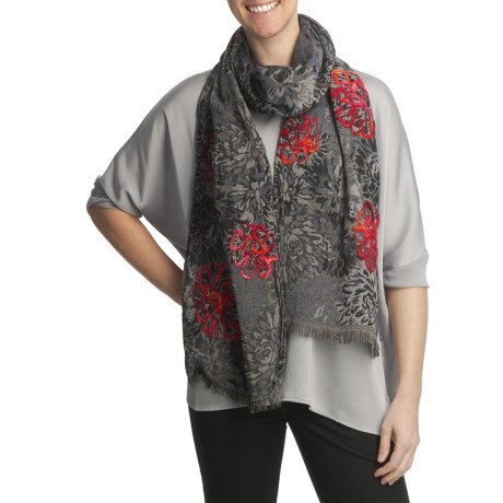 Asian Eye Dazzle Floral Scarf (For Women)