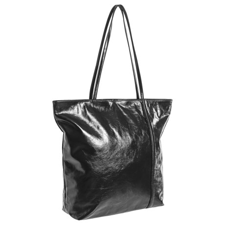 Latico Raw-Edged Top-Zip Leather Tote Bag (For Women)