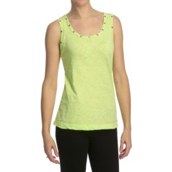 Neon Buddha Slub Jersey Stud Tank Top (For Women)