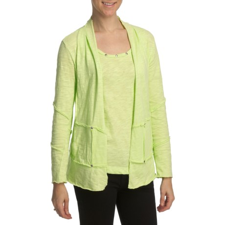 Neon Buddha Funky Patchwork Cardigan Sweater (For Women)