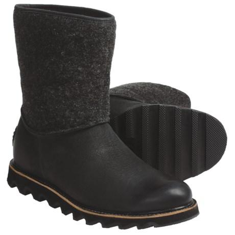 Sorel Mad Slip Boots - Leather, Felt (For Men)