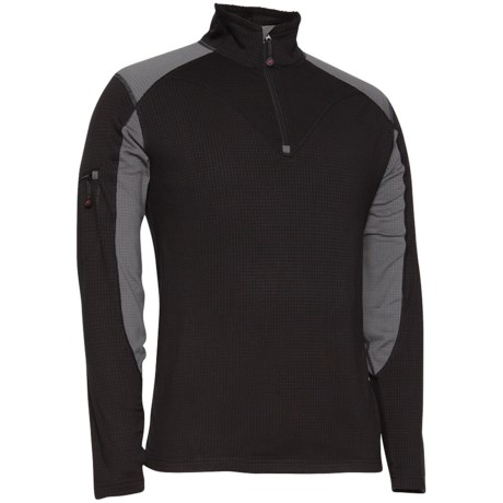 Terramar Geo Tek 3.0 Base Layer Top - UPF 50+, Heavyweight, Zip Neck, Long Sleeve (For Men)