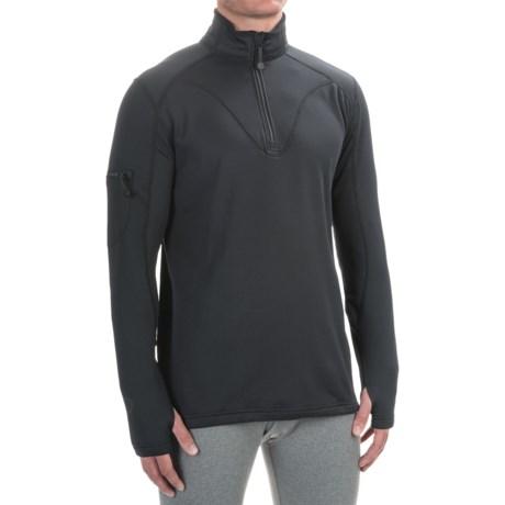 Terramar Geo Tek 3.0 Base Layer Top - UPF 50+, Heavyweight, Zip Neck, Long Sleeve (For Men)