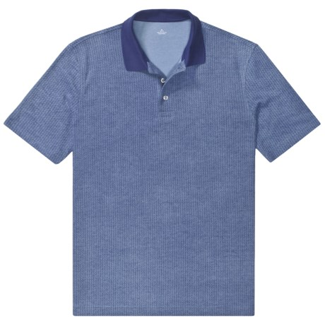 Pima Cotton Jacquard Polo Shirt - Short Sleeve (For Big Men)