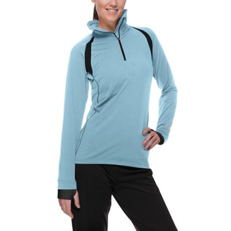 SportHill Glacier Pullover - Zip Neck (For Women)