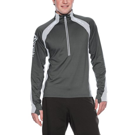 SportHill Ultimate Visibility Pullover - Microfleece, Zip Neck (For Men)
