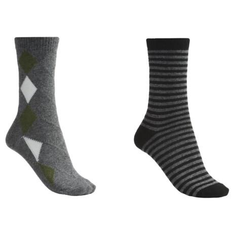 b.ella Diamond and Stripe Socks - 2-Pack (For Women)