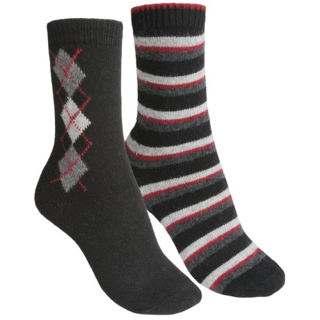 b.ella Diamond and Stripe Socks - 2-Pack (For Women)