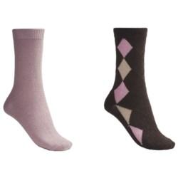 b.ella Diamond and Solid Socks - 2-Pack (For Women)