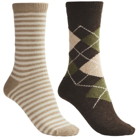 b.ella Argyle/Stripe Socks - Crew, 2-Pack (For Women)