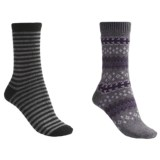 b.ella Fair Isle and Stripe Socks - 2-Pack (For Women)