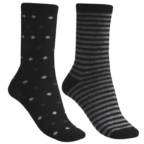 b.ella Dot and Stripe Socks - 2-Pack (For Women)