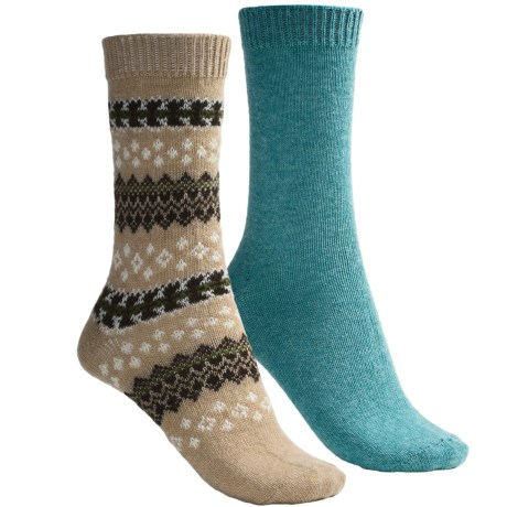 b.ella Fair Isle and Solid Socks - 2-Pack (For Women)