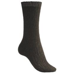 b.ella Cable Socks - Wool Blend, Crew (For Women)