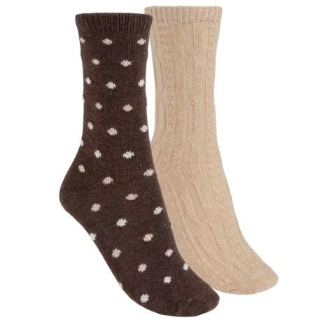b.ella Dot and Solid Socks - 2-Pack (For Women)