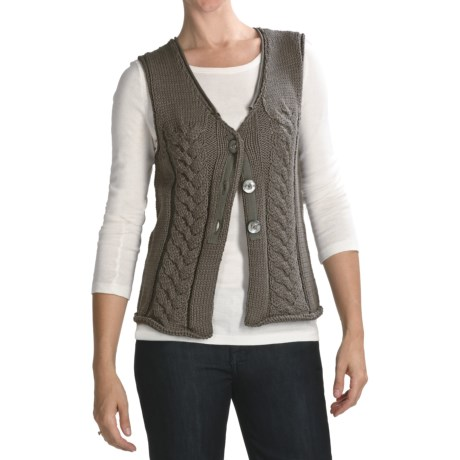 Pure Handknit Crossroads Vest - Slub Cotton (For Women)