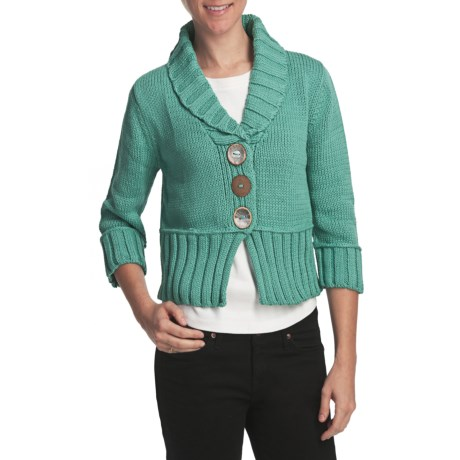Pure Handknit Tuesday Afternoon Crop Cardigan Sweater (For Women)