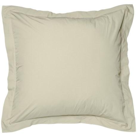 Coyuchi Sunlight Organic Percale Pillow Sham - Euro, 220 TC