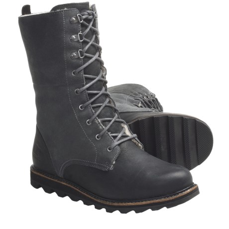 Sorel Wicked Work Boots - Leather, Shearling Lining (For Women)