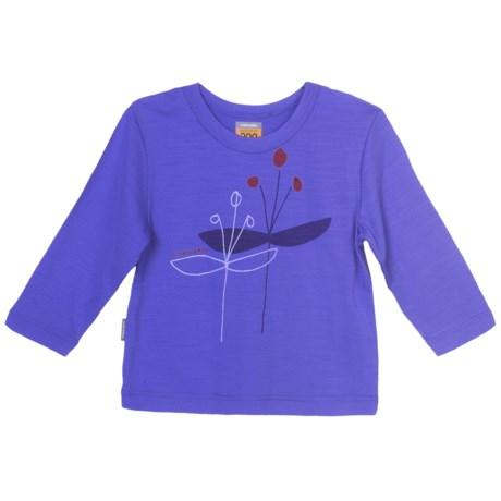 Icebreaker Bodyfit 200 Bella T-Shirt - Merino Wool, Long Sleeve (For Girls)