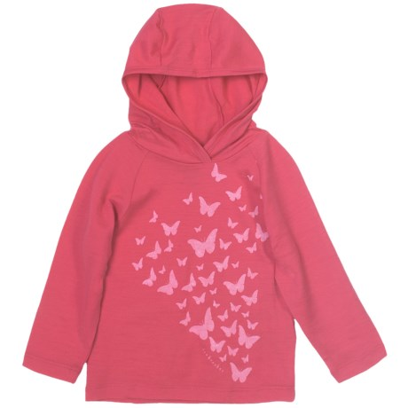 Icebreaker Bodyfit 200 Flutter Hooded Shirt - Merino Wool, Long Sleeve (For Girls)