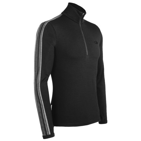 Icebreaker Bodyfit 260 Apex Base Layer Top - Merino Wool, Zip Neck, Long Sleeve (For Men)