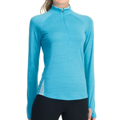 Icebreaker GT 200 Pace Base Layer Top - Merino Wool, Zip Neck, Long Sleeve (For Women)