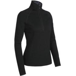Icebreaker Real Fleece Cascade Shirt - Merino Wool, Zip Neck, Long Sleeve (For Women)