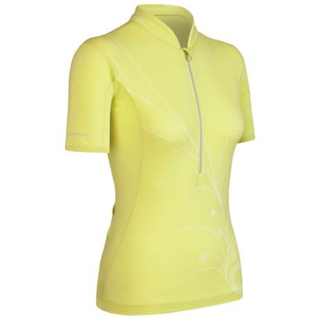Icebreaker GT Bike Rhythm Cycling Jersey - Merino Wool, Zip Neck, Short Sleeve (For Women)