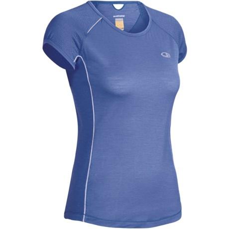 Icebreaker GT Run Rush Shirt - Merino Wool, Short Sleeve (For Women)